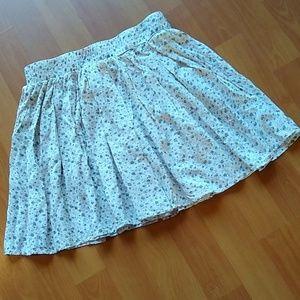 Brandy Melville One Size Floral Print Mini Skirt